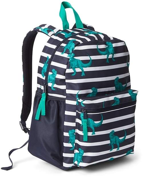 Stripe Dino Backpack