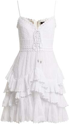 Isabel Marant Zowie lace-up cotton dress