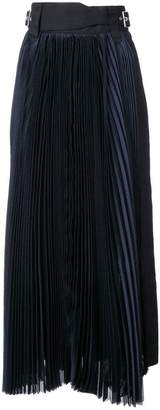 Sacai grid long skirt
