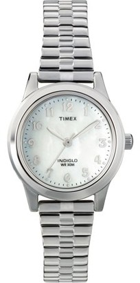 Timex Women's Essex Avenue Watch, Silver-Tone Stainless Steel Expansion Band