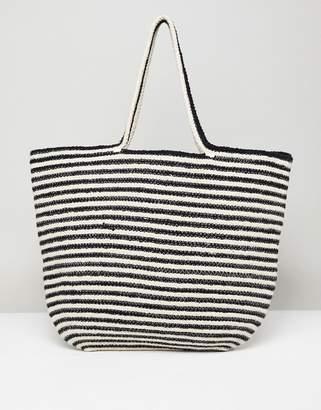 Pull&Bear Tote Bag In Stripe