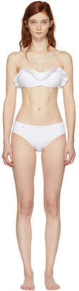 Fendi White Ruffle Bikini