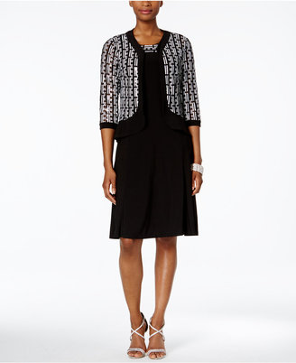 R & M Richards A-Line Dress and Sequined Jacket $119 thestylecure.com