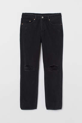 H&M Boyfriend Low Jeans - Black