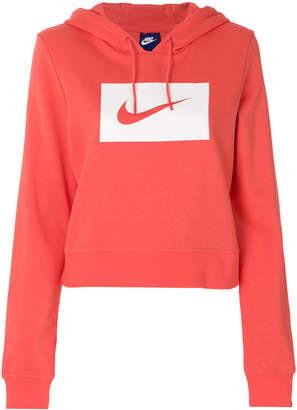 Nike logo patch hoodie