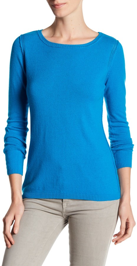 In Cashmere Cashmere Open-Stitch Pullover Sweater 18
