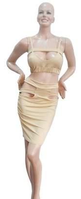 haisealing4 Women Slim Fit Fashion Bodycon Party Backless Dress Evening Bandage Dress