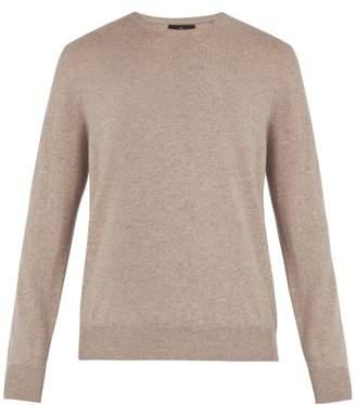 Allude - Crew Neck Cashmere Sweater - Mens - Beige