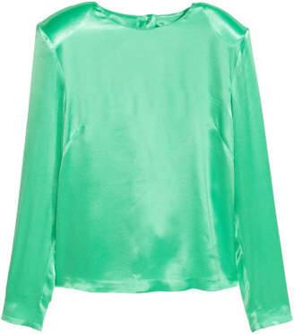 H&M Satin Top - Green