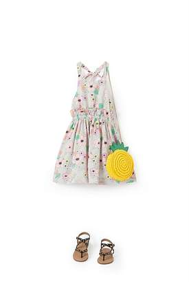 Country Road Cotton Linen Floral Dress