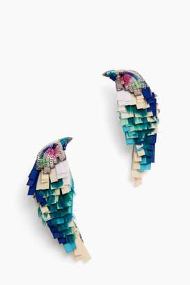 Mignonne Gavigan Hand Beaded Bird Earrings