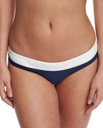 Heidi Klein Cape Cod Striped Hipster Swim Bikini Bottom, Navy