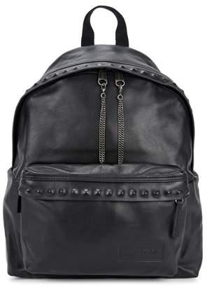 Eastpak Padded Pak'r Black Leather Backpack