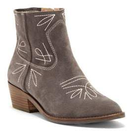 Lucky Brand Floriniah Western Suede Booties