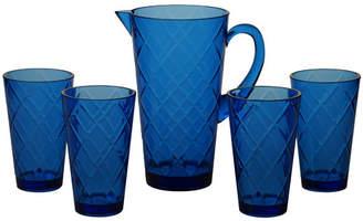 Certified International Diamond 5 Piece Plastic Assorted Glassware Set