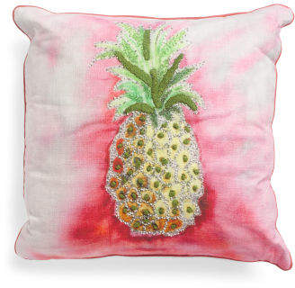 Made In India 20x20 Pineapple Pillow