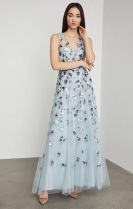BCBGMAXAZRIA Tulip Vine Sequin Gown