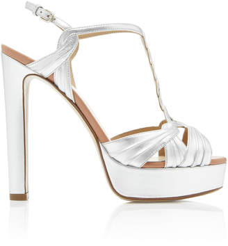 Francesco Russo Metallic Platform Sandal