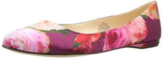 Nine West Women's Speakup Satin Ballet Flat