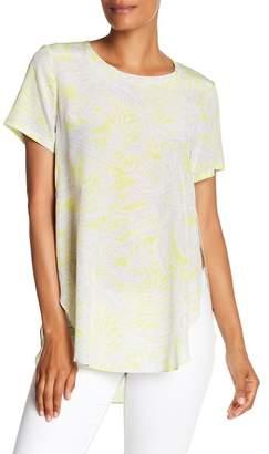 Acrobat Palm Print Silk Tee
