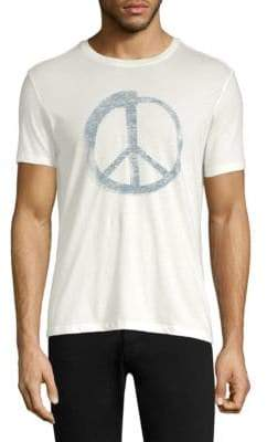 John Varvatos Peace Sign Graphic Tee