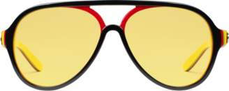 Gucci Aviator multilayer acetate sunglasses