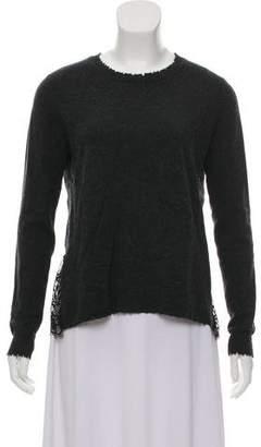 Autumn Cashmere Lace Trimmed Cashmere Top