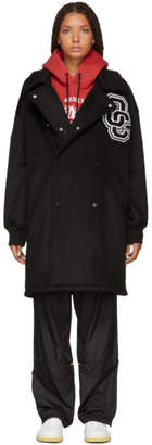 Opening Ceremony Black Wool Varsity Coat