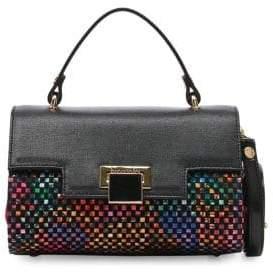 Braccialini Collection Linda Printed Crossbody Saffiano Leather Handbag