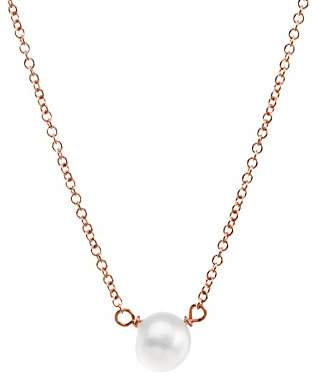Dogeared Women Gold Pearl Necklace of Length 45.72cm PR1017-IN
