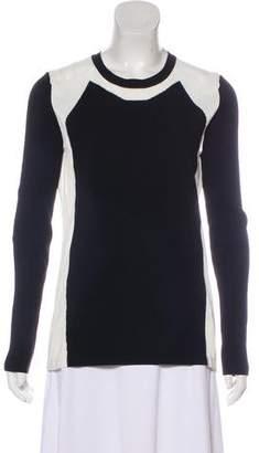 Reed Krakoff Bi-Color Crew Neck Sweater