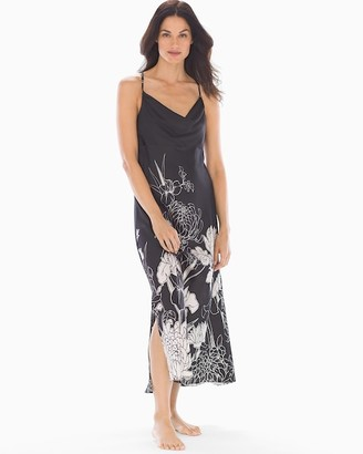 Soma Sensuous Silk Nightgown Heirloom Drama Black
