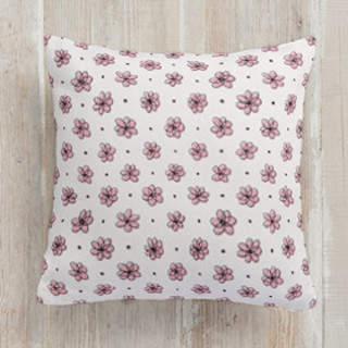 Floral Doodle Square Pillow