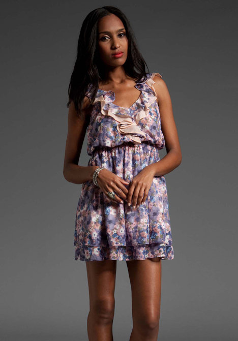 MM Couture by Miss Me V neck Floral Print Dress