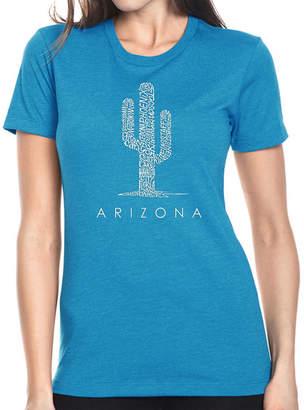 LOS ANGELES POP ART Los Angeles Pop Art Women's Premium Blend Word ArtT-shirt - Arizona Cities