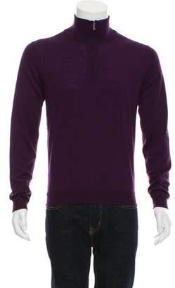 Calvin Klein Collection Wool Half-Zip Sweater