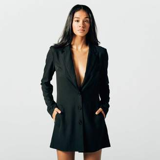 DSTLD Womens Blazer Dress in Black