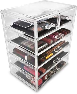 Sorbus Acrylic 6 Drawer Cosmetics Makeup & Jewelry Storage Case Display