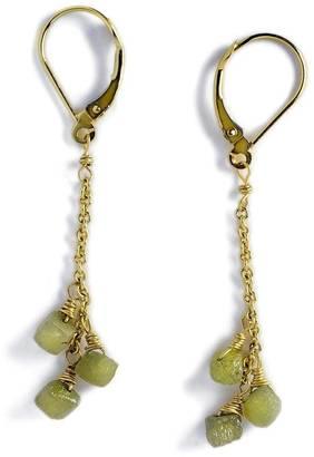 Mona Lisa's Closet Natural Diamond Earrings $625 thestylecure.com