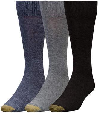 Gold Toe Men's 3-Pk. Flat-Knit Crew Socks