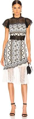 Sea Lola Lace Sleeveless Dress in Black & Cream Multi | FWRD