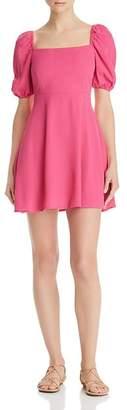 Flynn Skye Shaylee Puffed-Sleeve Mini Dress