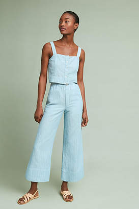 McGuire High-Waisted Linen Culottes