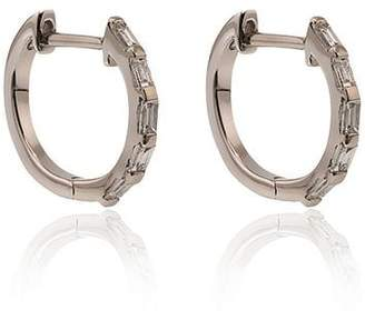 Shay 5 baguette diamond huggie earrings