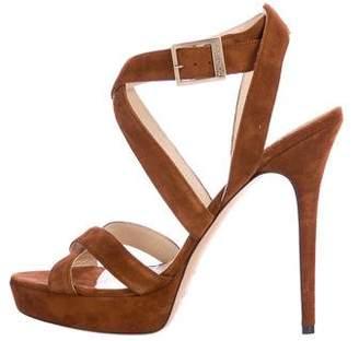 Jimmy Choo Vamp Suede Sandals