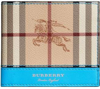 Burberry Haymarket Check international bifold wallet