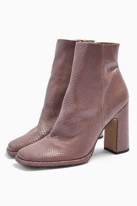 Topshop Womens Holden Lilac Platform Boots - Lilac