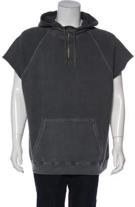 Robert Geller Overdyed Sleeveless Hoodie