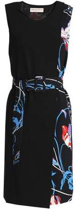 Emilio Pucci Wrap-Effect Printed Crepe Dress
