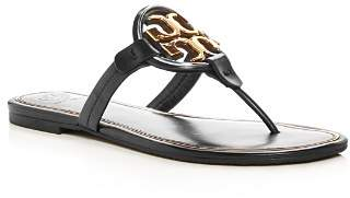 Tory Burch Women's Metal Miller Leather Thong Sandals